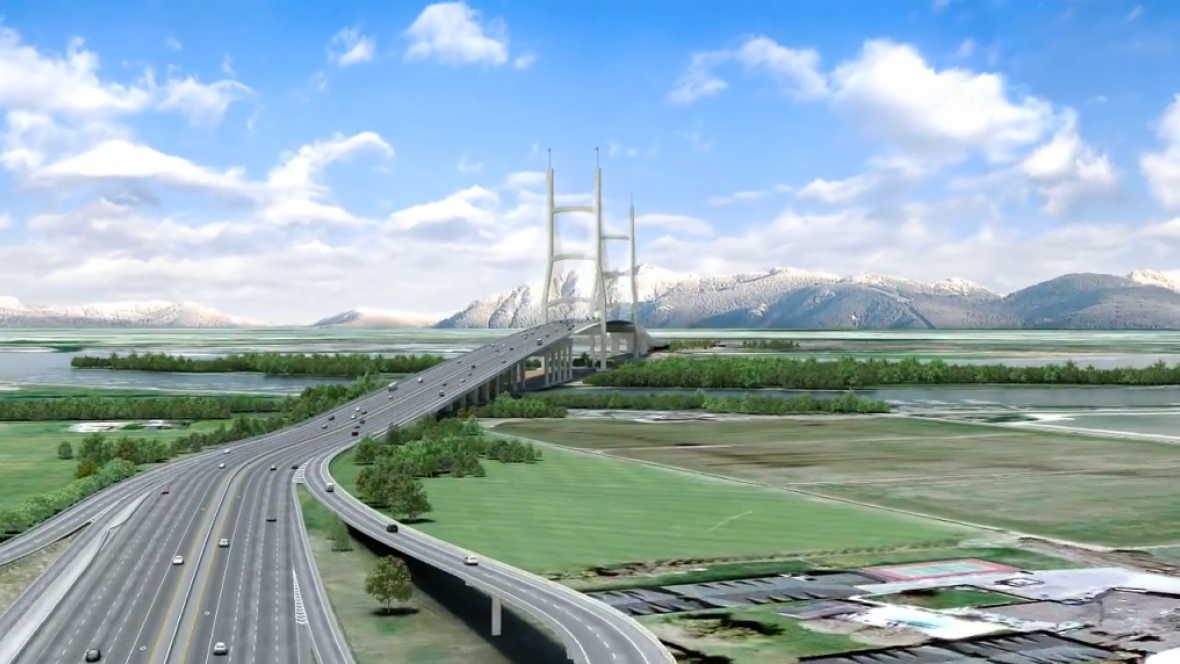 Proposed george massey bridge artist rendering